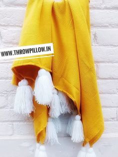 Tuscany Yellow Cotton Throw