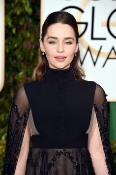 Emilia Clarke's Gown at the Golden Globe Awards 2016 | POPSUGAR Fashion