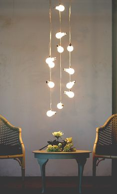 String of pendants http://roomdecorideas.eu/
