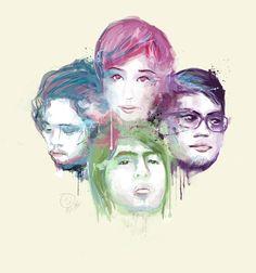 Up Dharma Down Pinoy Band Pinoy, Philippines, Joker, Watercolor, Band, Fictional Characters, Watercolor Painting, Ribbon, Bands