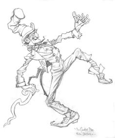 """Favorite NURSERY RHYMES from MOTHER GOOSE Drawings from """"The Crooked Man"""" - """"The Crooked Man"""" .Graphite on paper."""