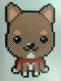 Benny! - A perler bead rendition of my lovable dog by Kisaoda on deviantart