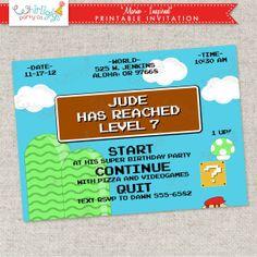 Printable Mario Invitation on Etsy, $12.00