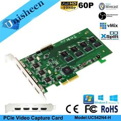 PCI Express HD Video Capture Card 1080p - 4 Channel HDMI Real Time Sale Only For US $599.00 on the link Tv Tuner Card, Video Capture, 4 Channel, Hd Video, Culture, Traditional, Link, Button, Check