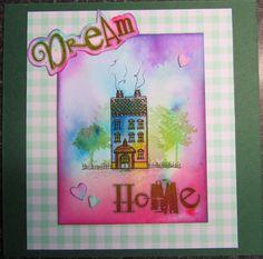 Quality Handmade Claritystamp Dream Home card by CraftyMrsPanky