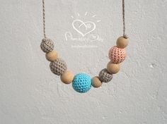 Baby Shower Gift Nursing Necklace Baby Blue Pale by AmazingDay