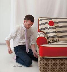 Adam Arnold's making magical slipcovers for Schoolhouse Electric's new furniture collection!