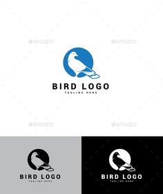 Bird Logo - Animals Logo Templates Logo Bird, Bird Logos, Logo Design Template, Logo Templates, Portfolio Logo, Buy Birds, Best Logo Design, Animal Logo, Cool Logo