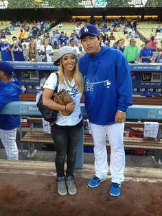 Jenna Marbles and Hyun-Jin Ryu