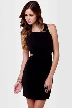 Cute Cutout Dress - Black Dress - Sleeveless Dress - $35.50