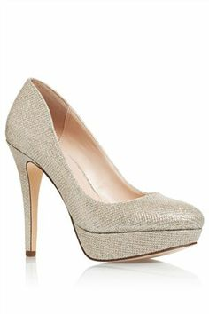 Buy Silver Shimmer Court Shoes from the Next UK online shop
