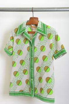 camisa masculina / estampa / anos 70' / tam.M / ♥ 80,