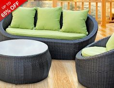 Featuring pieces hand-picked by our style-savvy buyers, we're showcasing customers' favorite must-haves. We know you've already got spring on your mind, so go ahead and satisfy your sunny side with our colorful collection of outdoor furniture. From chic seating groups and sleek dining sets to playful porch swings and spacious canopy beds, these all-weather designs will be at the ready once warm weather rolls around.
