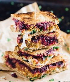 Vegetarian Meatloaf and Cranberry Thanksgiving Leftover Sandwich