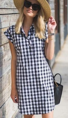 Short Sleeve Dresses, Dresses With Sleeves, Casual, Plaid, Womens Fashion, Shirts, Clothes, Tops, Seersucker Dress