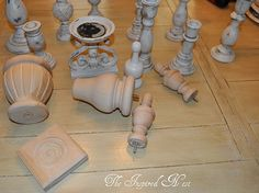 finials, and candlesticks