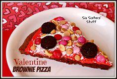 Valentine Brownie Pizza Recipe...kinda cute