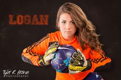Logan Miller - McKinney High School - Goalie - Studio - Whitiney Stiles - Senior Portraits - #seniorpics - Soccer - Pretty - Serious - Senior - Photography - Jersey - Gloves - Keeper - Tyler R. Brown Photography