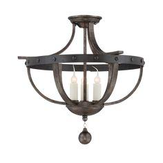 Wildon Home ® Scituate 3 Light Semi Flush Mount