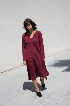 xirena walden dress in garnet