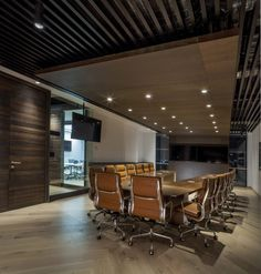 Office Design Ideas, Grupo CP Meeting Room Design — Inspiring Office Meeting Rooms Reveal Their Playful Designs Corporate Office Design, Modern Office Design, Corporate Interiors, Office Interiors, Corporate Offices, Office Designs, Design Furniture, Office Interior Design, Home Interior