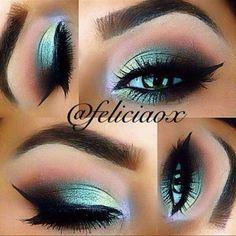 Gorgeous Makeup: Tips and Tricks With Eye Makeup and Eyeshadow – Makeup Design Ideas Gorgeous Makeup, Pretty Makeup, Love Makeup, Makeup Inspo, Makeup Art, Makeup Inspiration, Beauty Makeup, Green Makeup, Cat Makeup