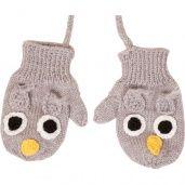 Hoot hoot knitted mittens