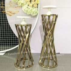Party Used Carve Gold Stainless Steel Metal Display Wedding Cake Stand Gold Cake Stand, Metal Cake Stand, Wedding Cake Stands, Wedding Cakes, Tool Cake, Stainless Steel Metal, Gold Material, Color Change, Wedding Colors