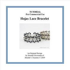 Hojas Lace Bracelet  Beading Tutorial  PDF File by SmadarsTreasure, $15.00