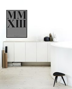 storage made via an ikea hack (just take ikea kitchen cabinets & wall mount or not- then add a simple top and voila!)