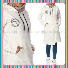 Kanguru Cepli Baskılı Tunik 6511 Beyaz Hooded Jacket, Athletic, Jackets, Wedding, Fashion, Jacket With Hoodie, Down Jackets, Valentines Day Weddings, Moda