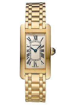 Cartier W26015K2 Tank Americaine Women's 18K Yellow Gold Watch  $15,500.00
