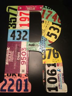 DIY Medal Racks: Race Bib Covered Wooden Letters  | Pynk Fitness - wellness for the alternative athlete