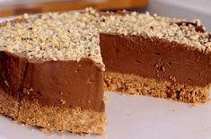 Nutella No Bake Cake Cheesecake Greek Sweets, Greek Desserts, Party Desserts, Summer Desserts, Pastry Recipes, Baking Recipes, Pie Recipes, No Bake Nutella Cheesecake, Homemade Sweets