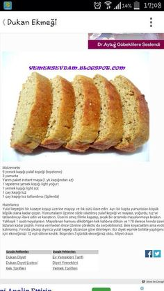 Dukan bread Dukan Diet, I Foods, Clean Eating, Food And Drink, Bread, Baking, Breakfast, Ethnic Recipes, Oat Cookies