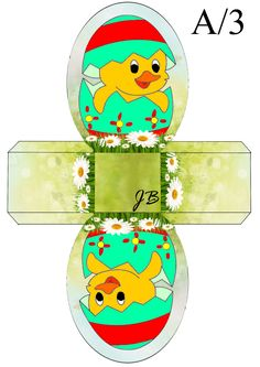 JB Easter Projects, Easter Crafts, Paper Box Template, Printable Box, Quilling Paper Craft, Easter Printables, Card Sketches, Easter Baskets, Design Crafts
