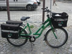 Szentendre, Hungary, postmans bike