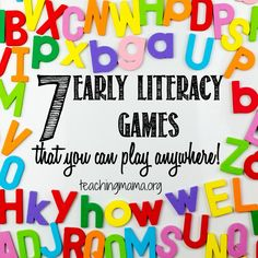 7 early literacy games you can play anywhere to practice phonological awareness.