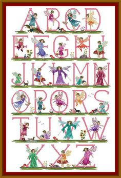 Fairy Alphabet ~ needlepoint and cross-stitch set kits