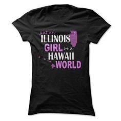 Illinois girl in Hawaii #hoodie #TShirts