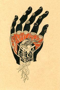 coeur carré; illustration par Nedko Zhechev