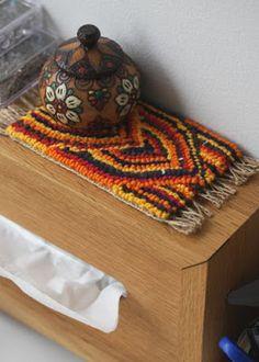 CRESUS artisanat: フックドラグ Hooked rug