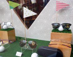vitrine optique/ solaire/ thème golf par La Belle Idée #vitrine #opticien…