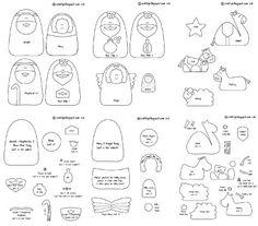 felt nativity scene pattern free | Craitlyn: Felt Nativity Pattern Now…