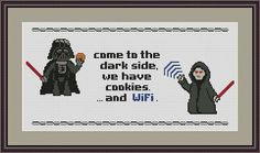 Darth Vader  Come to the Dark Side  we have by CrazzzyStitch