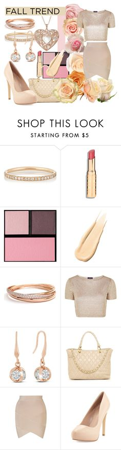"""""""Rose Gold"""" by phoenixstarr15 ❤ liked on Polyvore featuring Ileana Makri, Surratt, Hourglass Cosmetics, Savvy Cie, Topshop, Anna Luchini and Charles by Charles David"""