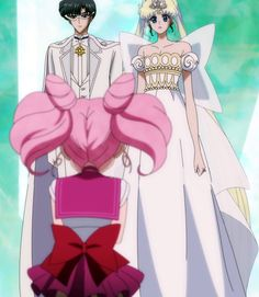 King Endymion, Neo Queen Serenity & Sailor Chibi Moon