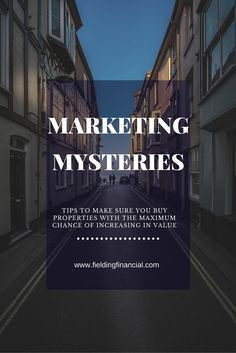 Ever wondered how you can buy properties with a maximum chance of increasing in value? Find out how here : Wealth Creation, Fields, Mystery, Marketing, Tips, Stuff To Buy, Advice, Hacks