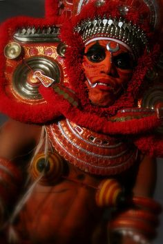 Mystiques of malabar    Theyyam , a ritual dance from Kerala in South India. It's a combination of dance, music, colours and believes from the tribal culture.