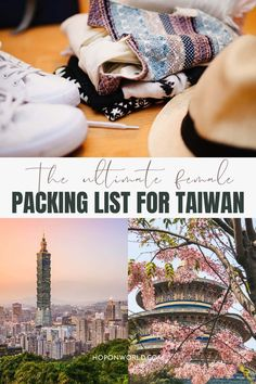 The Ultimate Female Packing List for Taiwan | Hoponworld Taiwan Travel, What To Pack, Lonely Planet, Travel Guides, Packing, Female, Bag Packaging